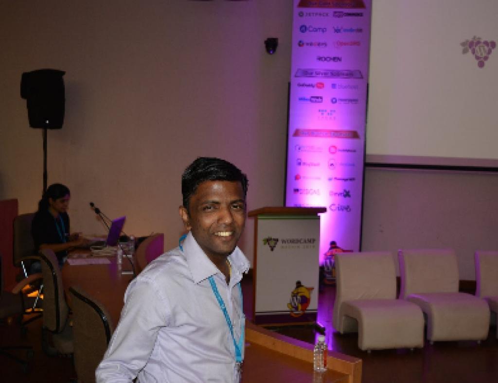 Harshad at WordCamp Nashik