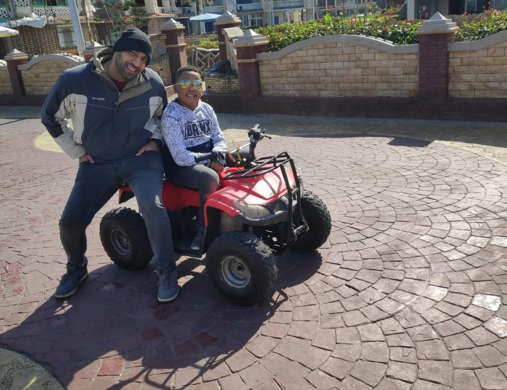 The first time for my son Adam to ride a quad bike!
